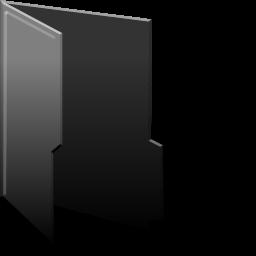 Black folder full icon png #24500.