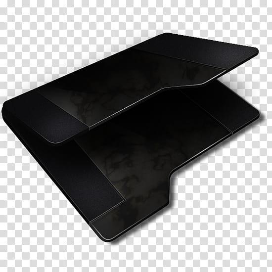 Black Empty Folder, black folder icon transparent background PNG.
