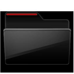 Folder black red Icon.