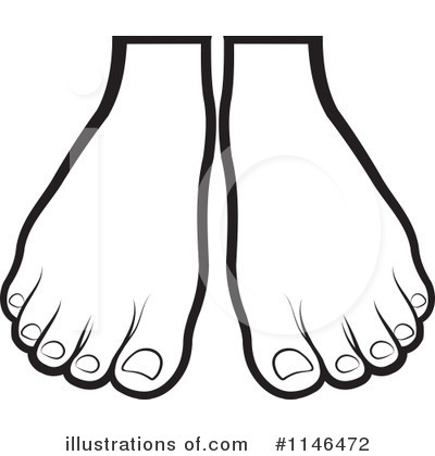 Foot Black And White Clipart.