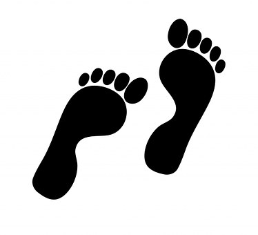 Black, Foot.