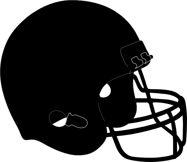 Blk Football Helmet Clip Art at Clker.com.