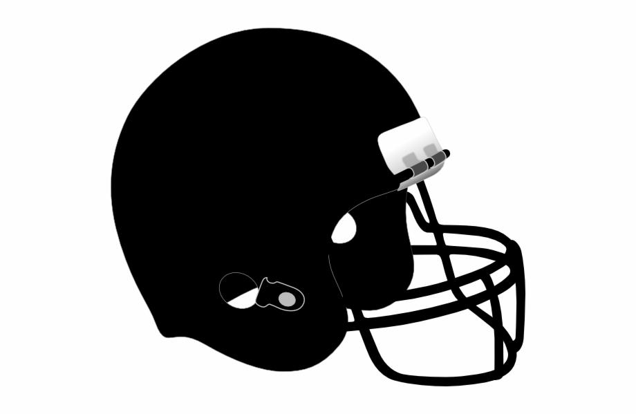 Black Football Helmet Png.