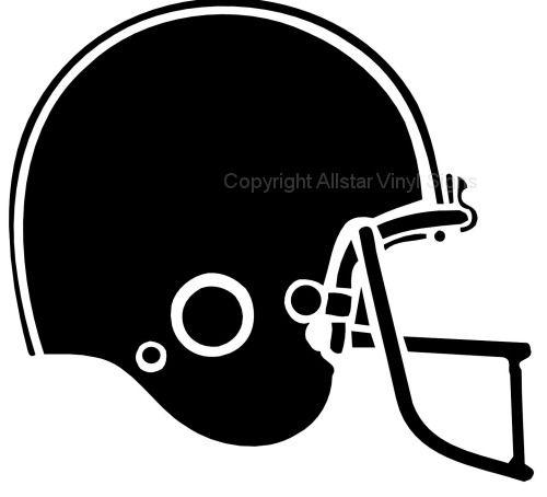football helmet silhouette.