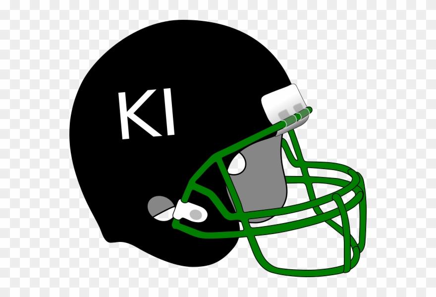 Black Football Helmet Clip Art.