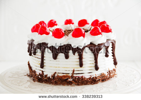 Black Forest Cake Stock Photos, Royalty.