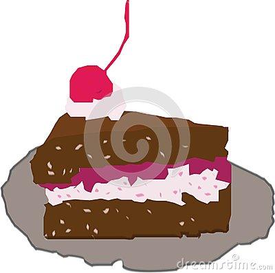Black Forest Cake Stock Illustrations.