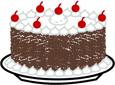 Black Forest Cake Clipart Clipground