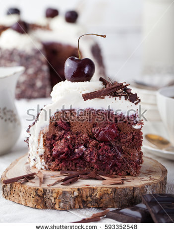 White Forest Cake Stock Photos, Royalty.