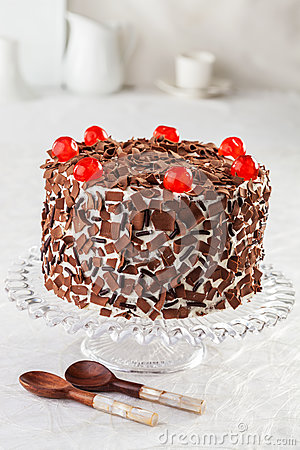 Black Forest Cake Stock Photography.