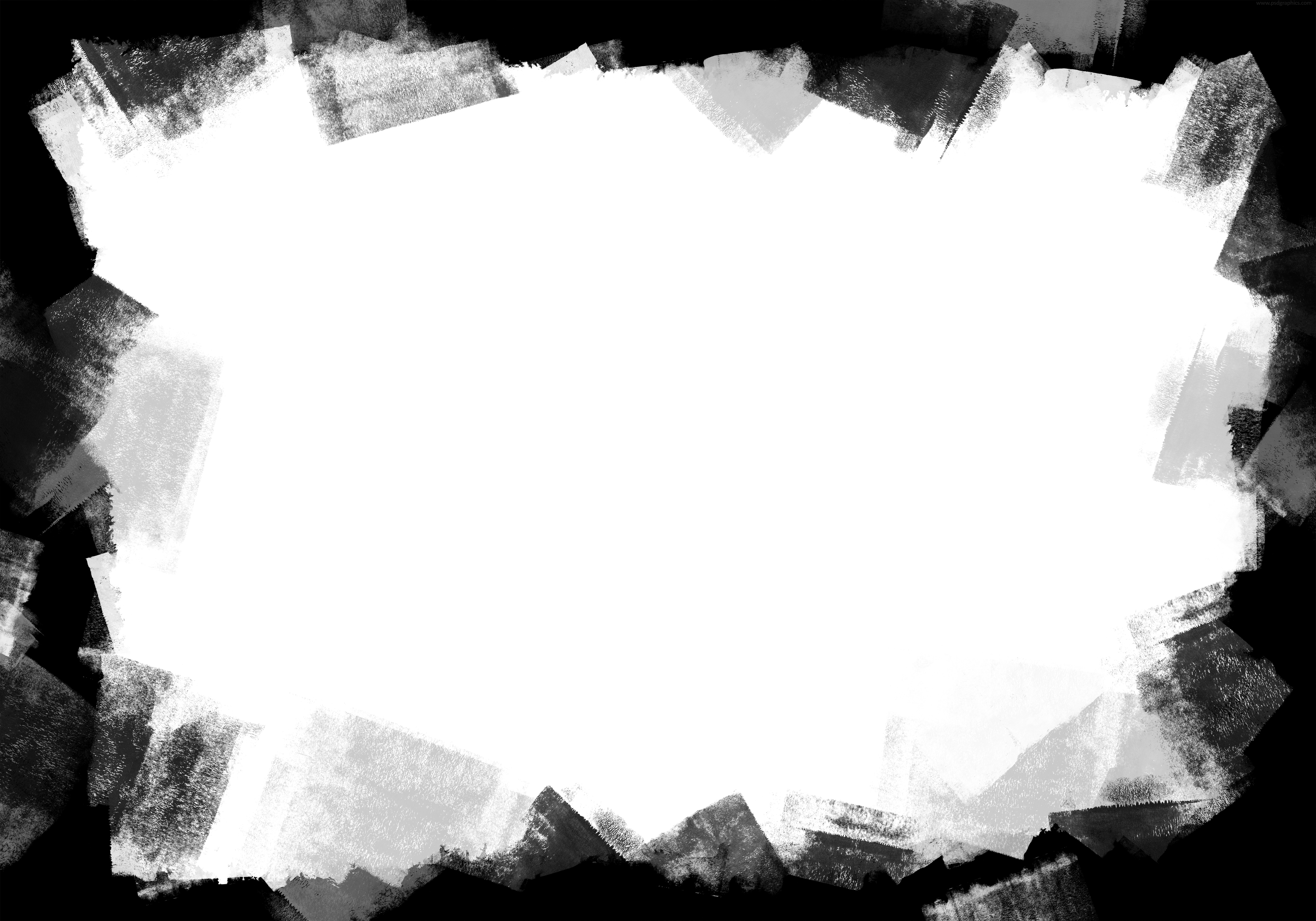 Black paint frame PNG and JPG.