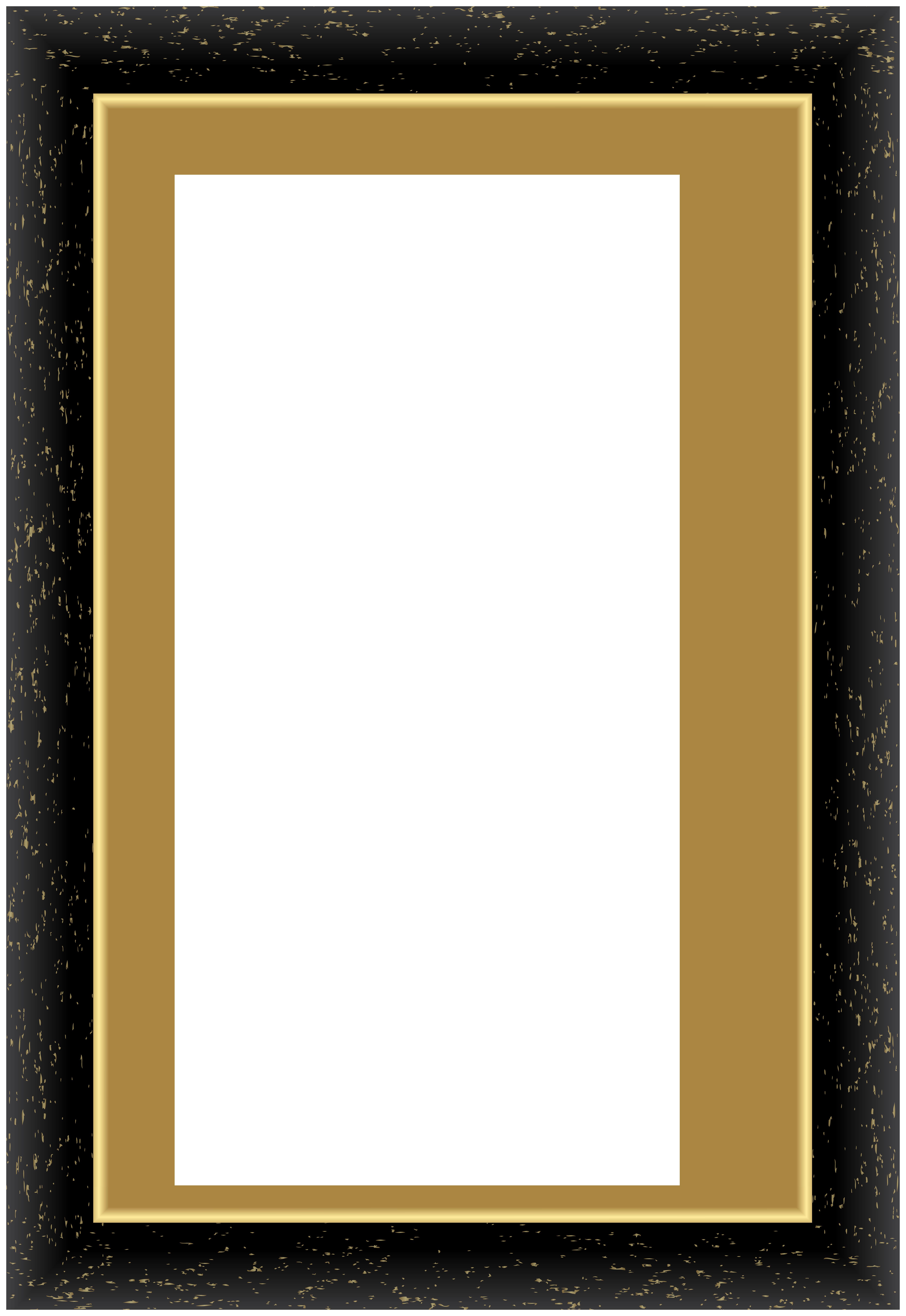 Decorative Black Frame PNG Clip Art.