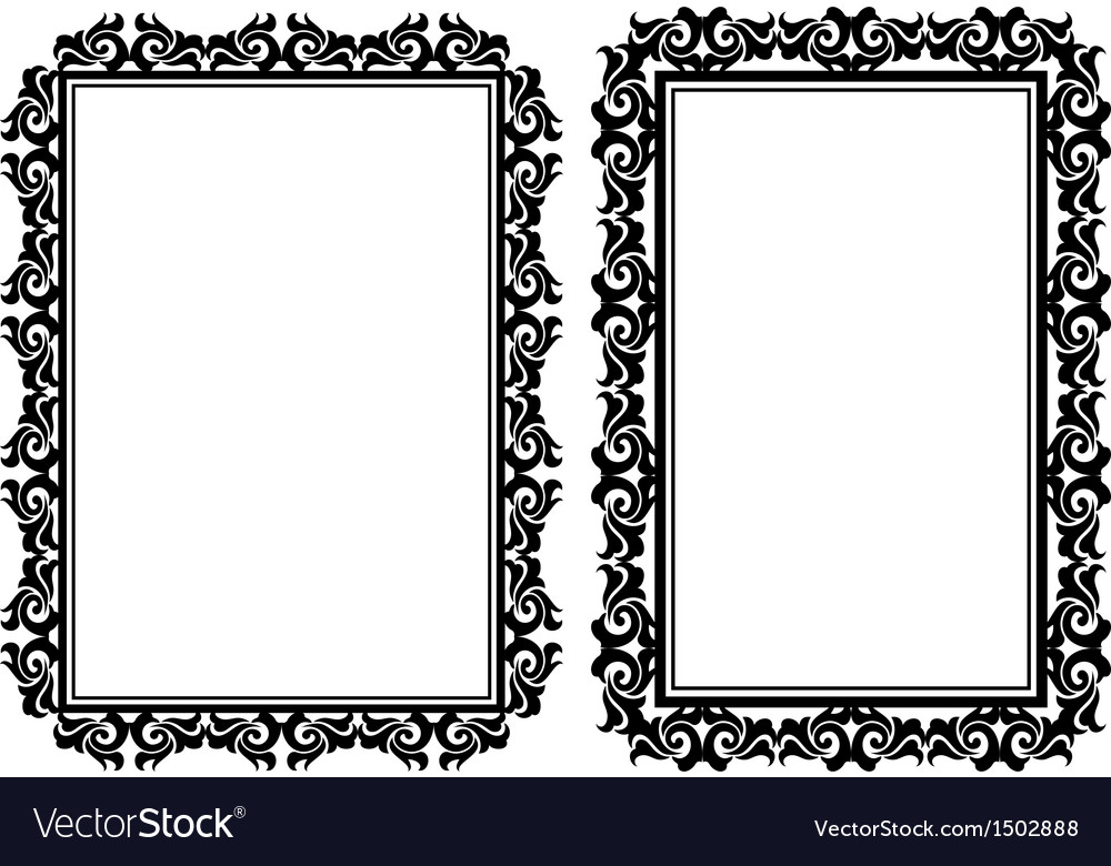 Rectangular frames.