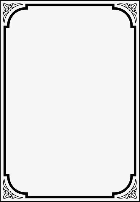 Black Frame, Frame Clipart, Black, Decorative Pattern PNG.