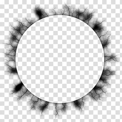 Electrify frames s, round black frame illustration.