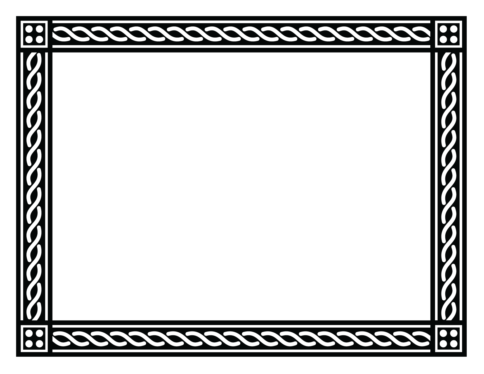 Black Frame PNG Images Transparent Free Download.