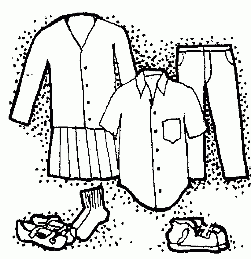 Clothing clothes clip art black and white free clipart images.