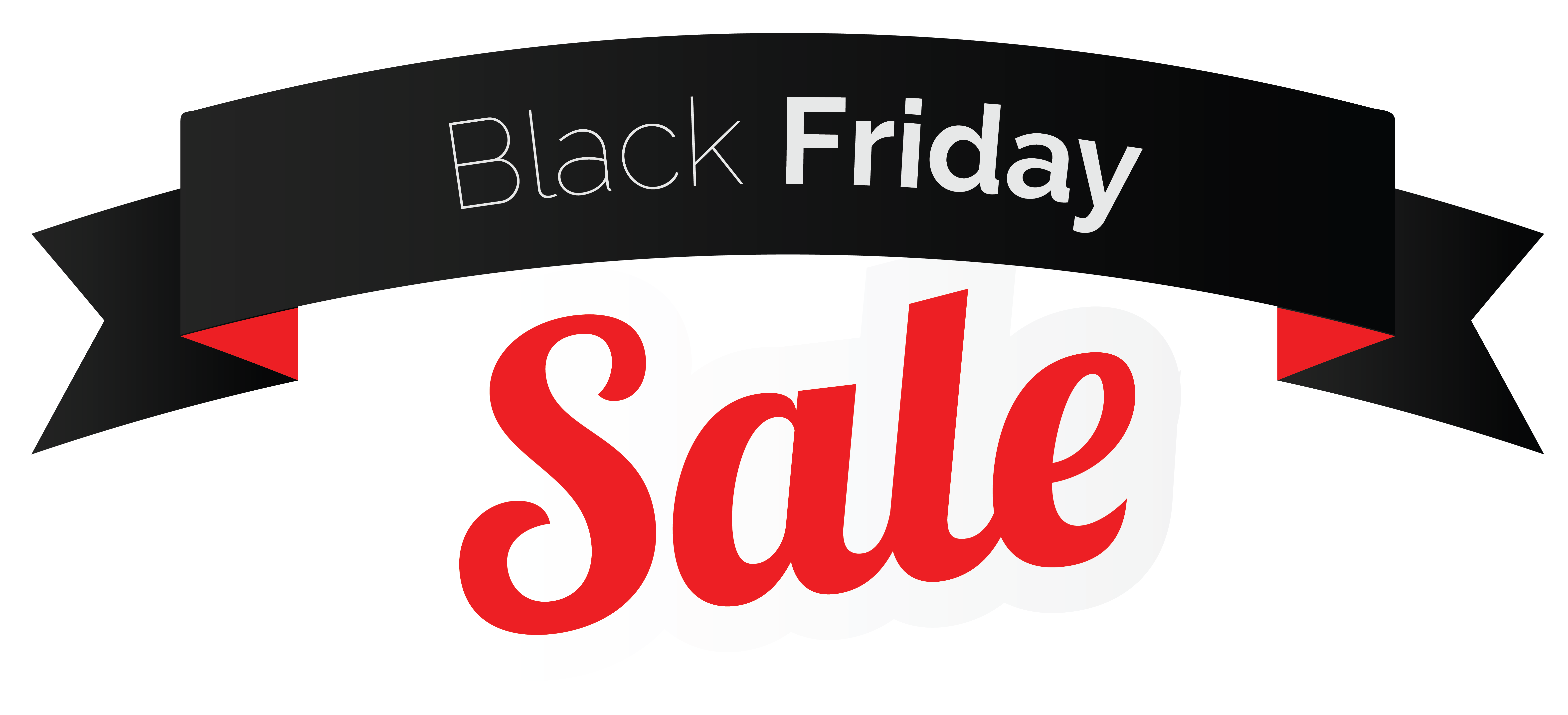Black Friday Sale Banner PNG Clipart Image.