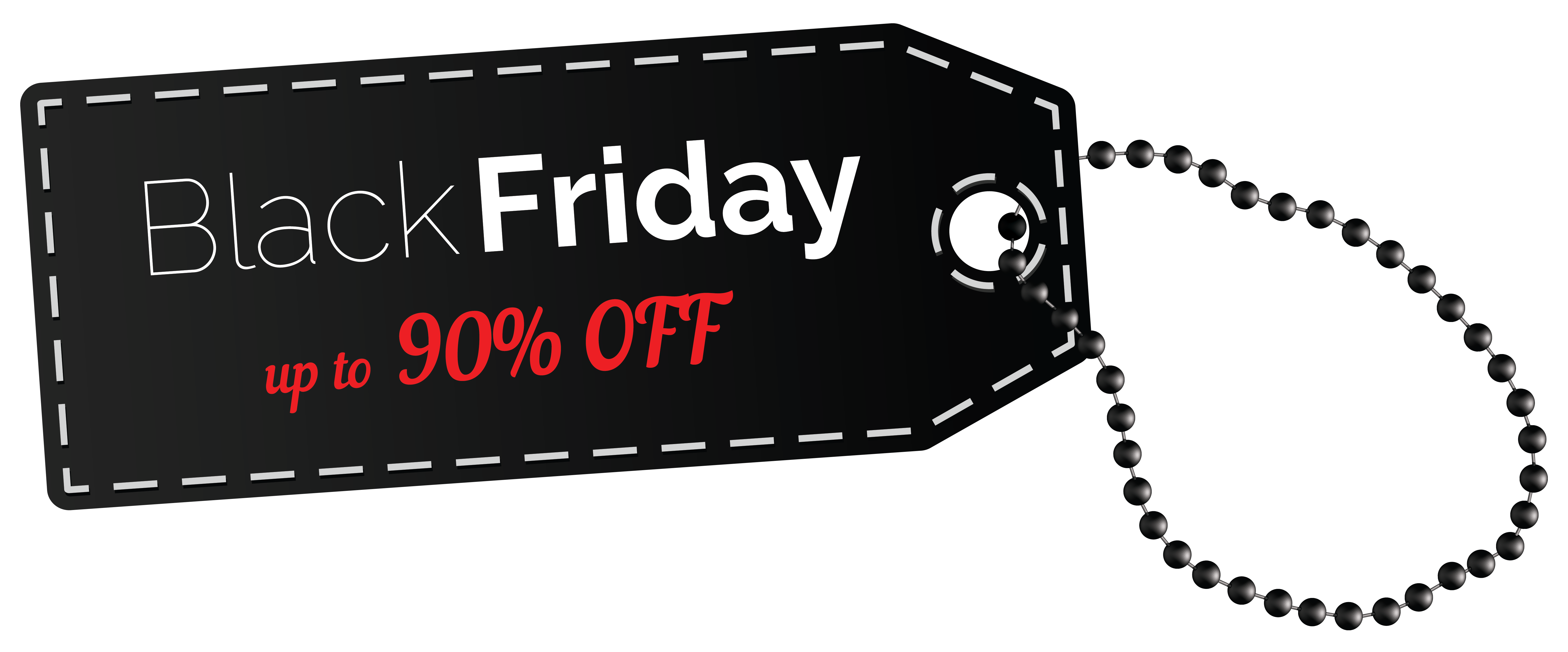 Black Friday 90% OFF Tag PNG Clipart Image.
