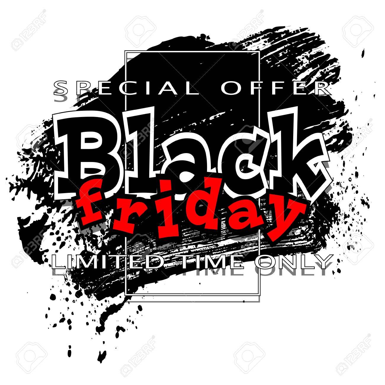 Black friday sale background, vector illustration clip.
