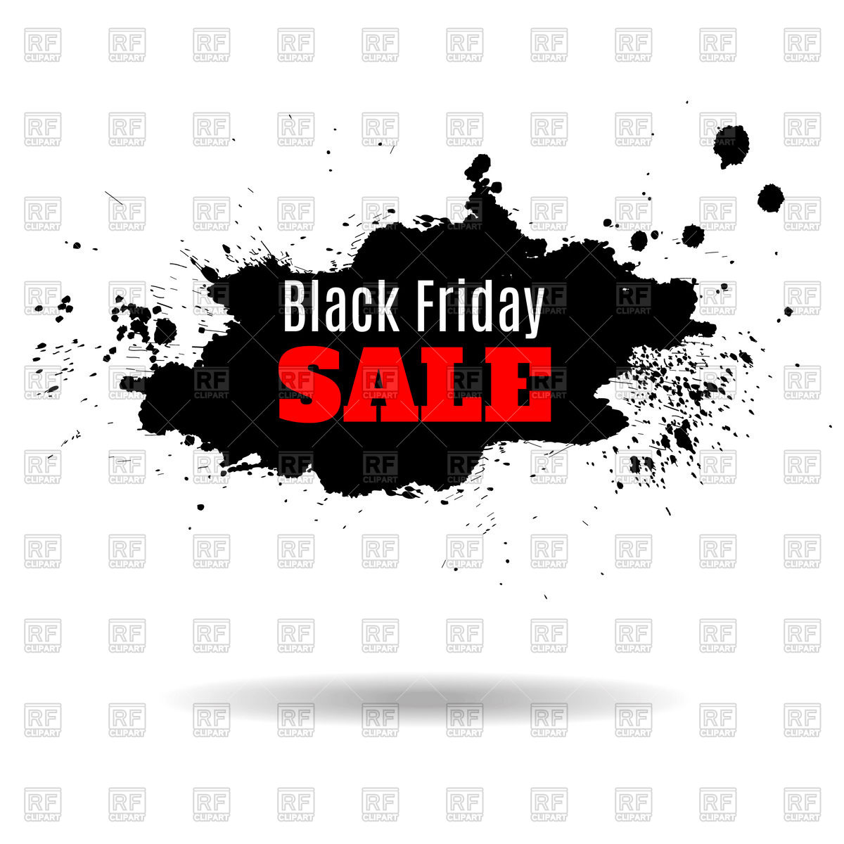 Black friday sale banner Stock Vector Image.