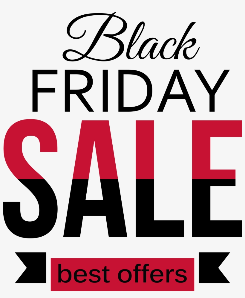 Black Friday Sale Red And Black Clipart Png Picture.
