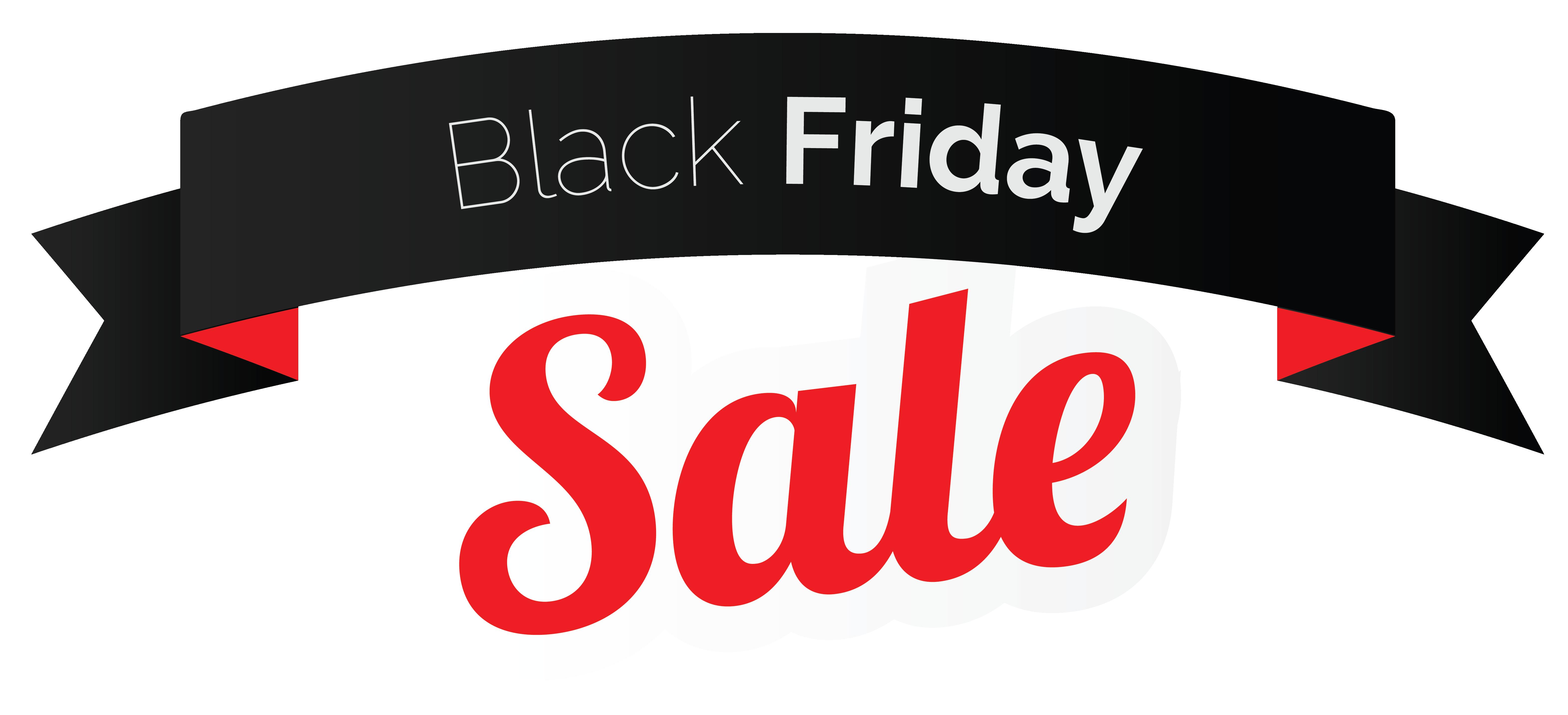 Black Friday Sale Banner PNG Clipart Image.