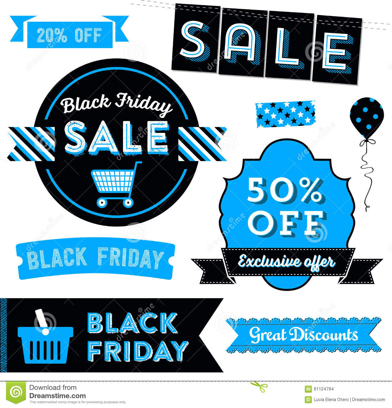 Black Friday Clipart stock vector. Illustration of advertisement.