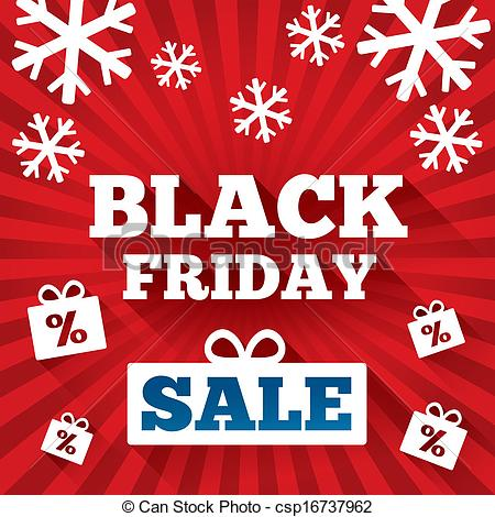 Black Friday Shopping Clipart.