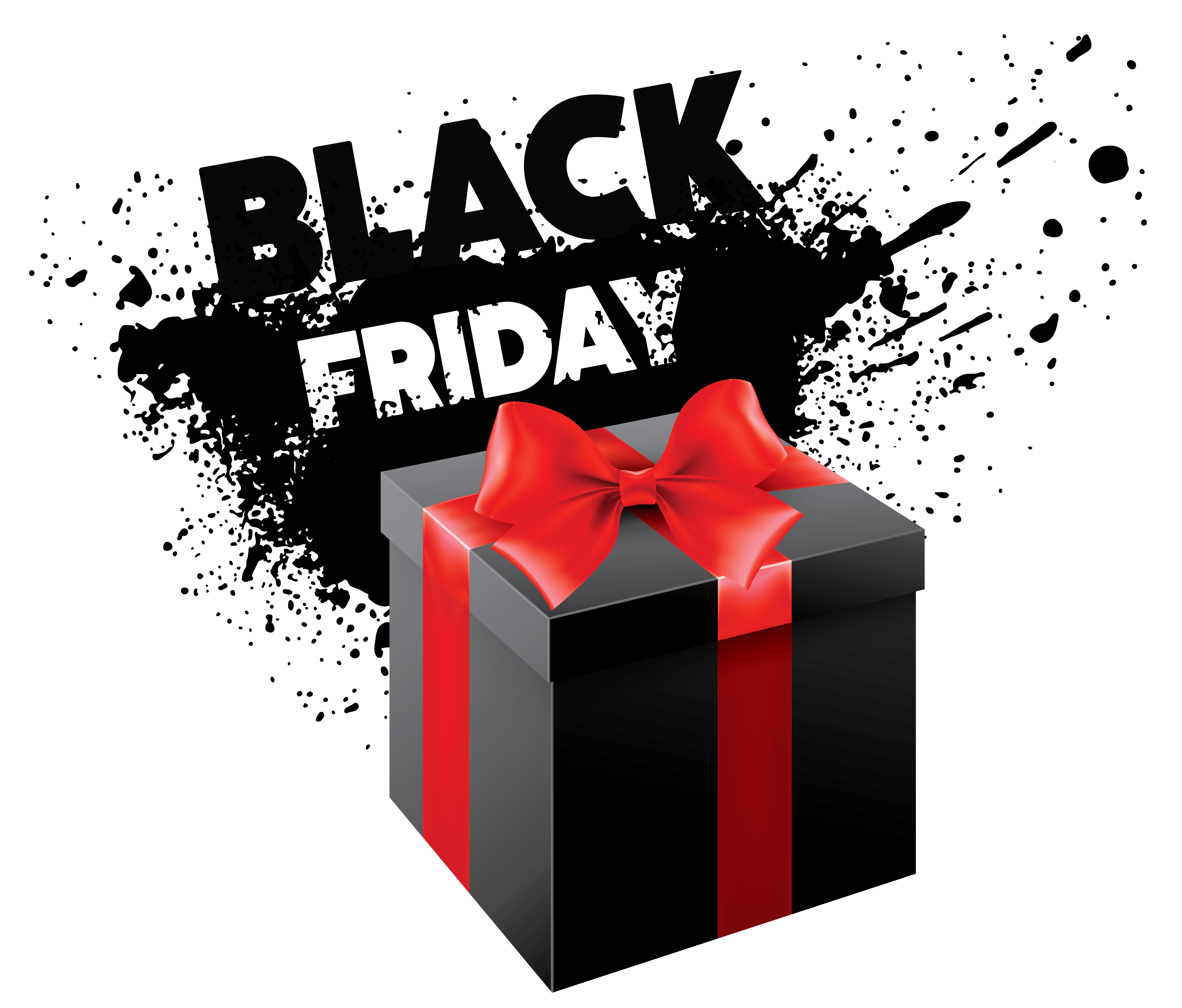 Black Friday PNG Clipart Image.