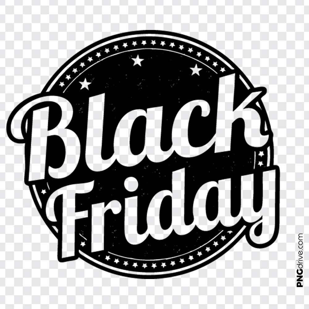 Black Friday Clipart Vector PNG Image.