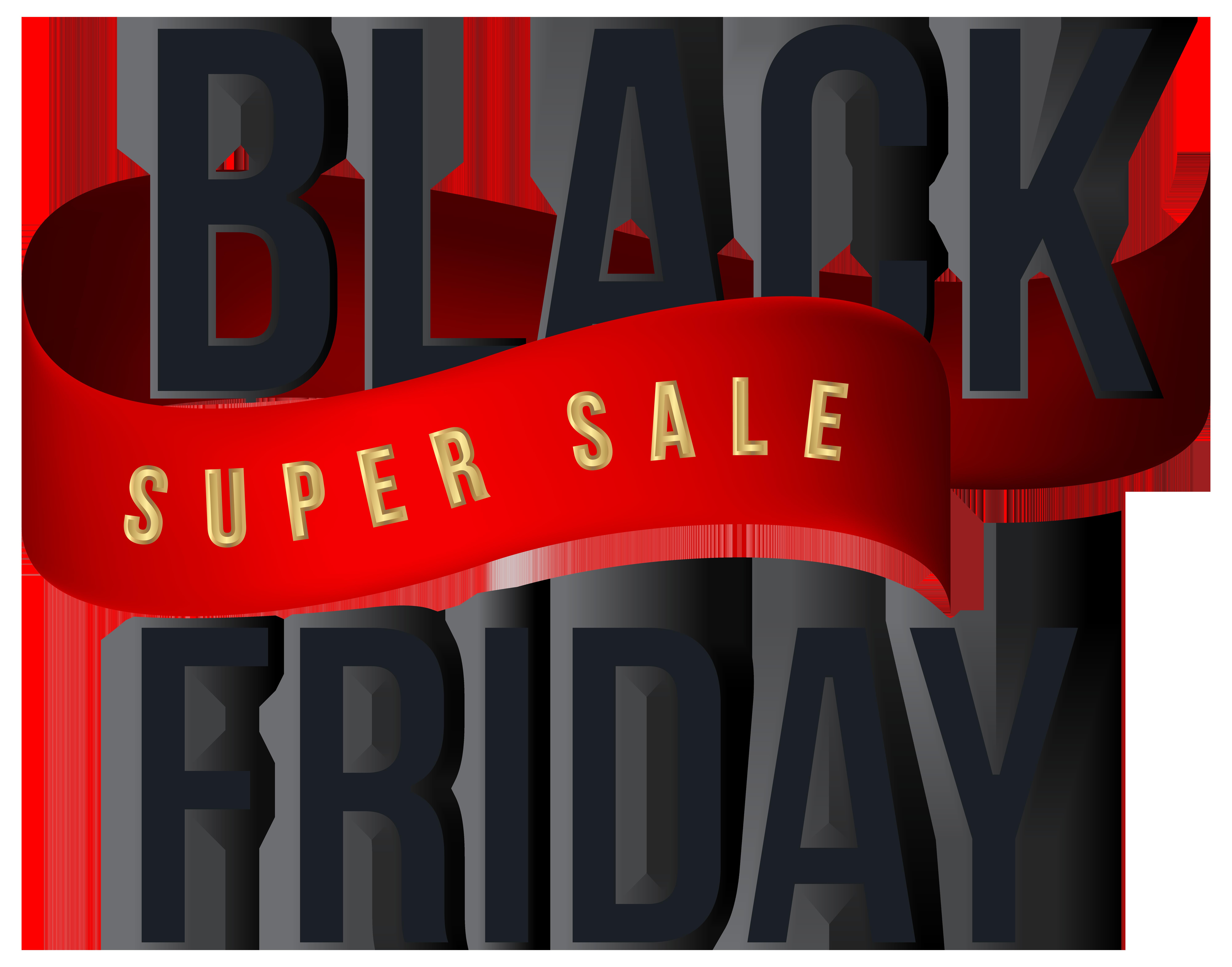 Black Friday Super Sale Transparent PNG Clip Art Image.