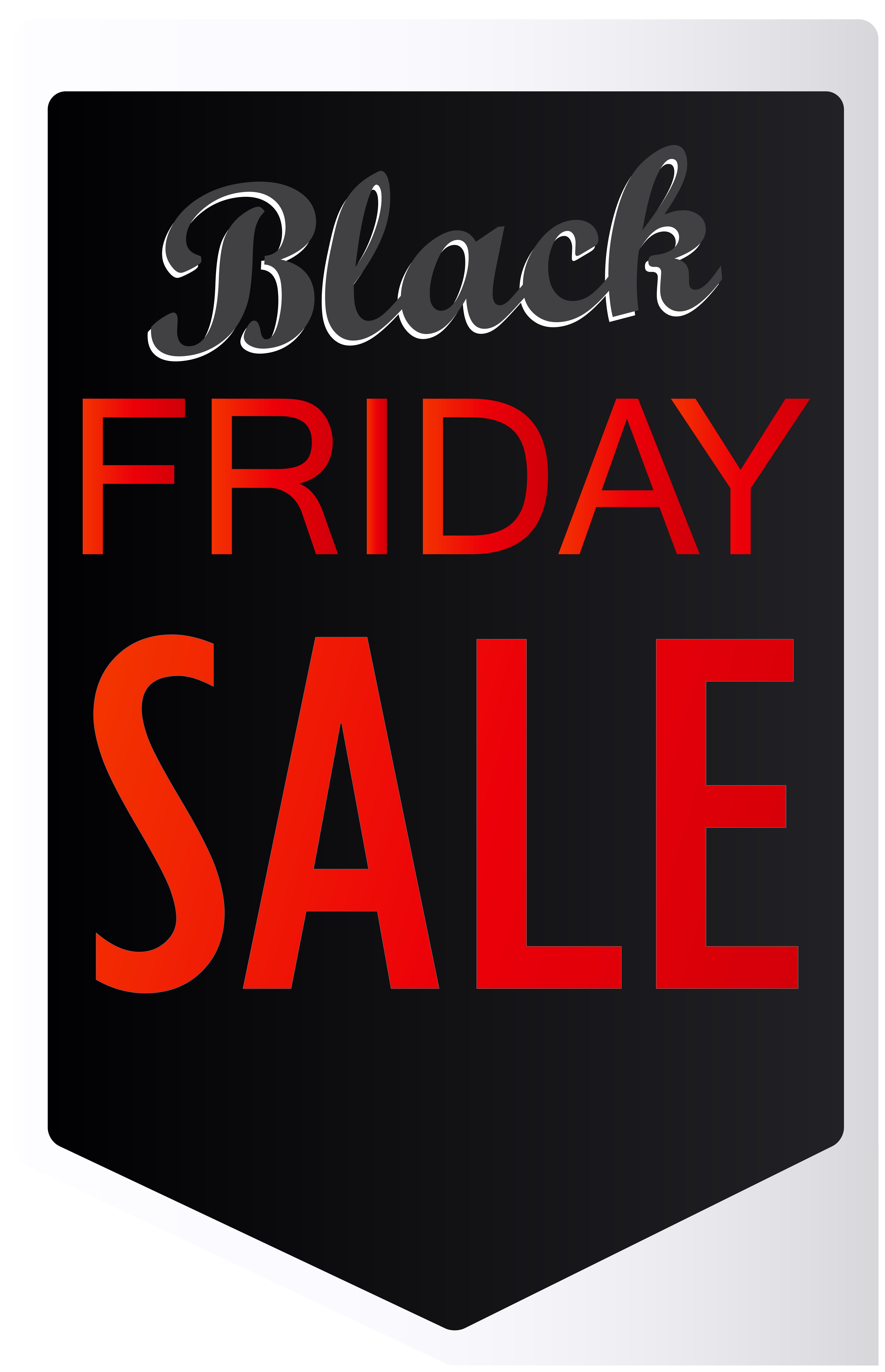 Black Friday Sale Label PNG Clip Art Image.