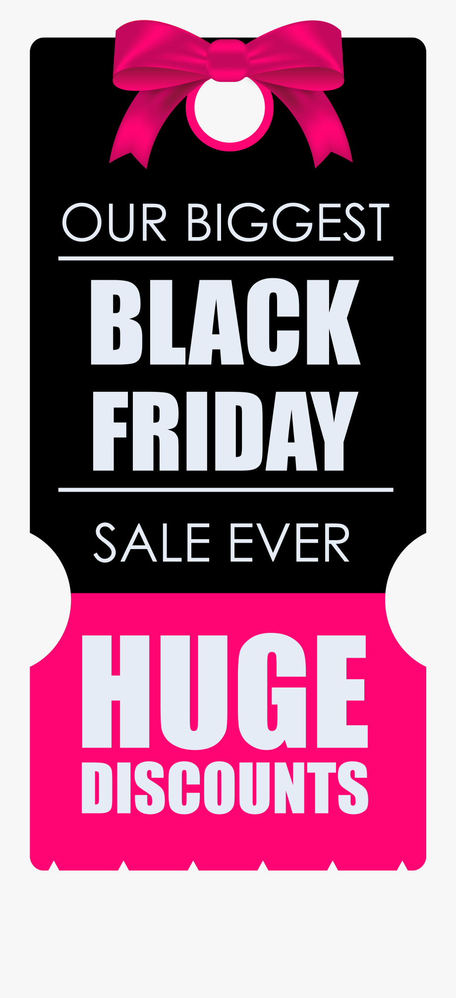 Black Friday Huge Discounts Banner Tag Png Clipart.