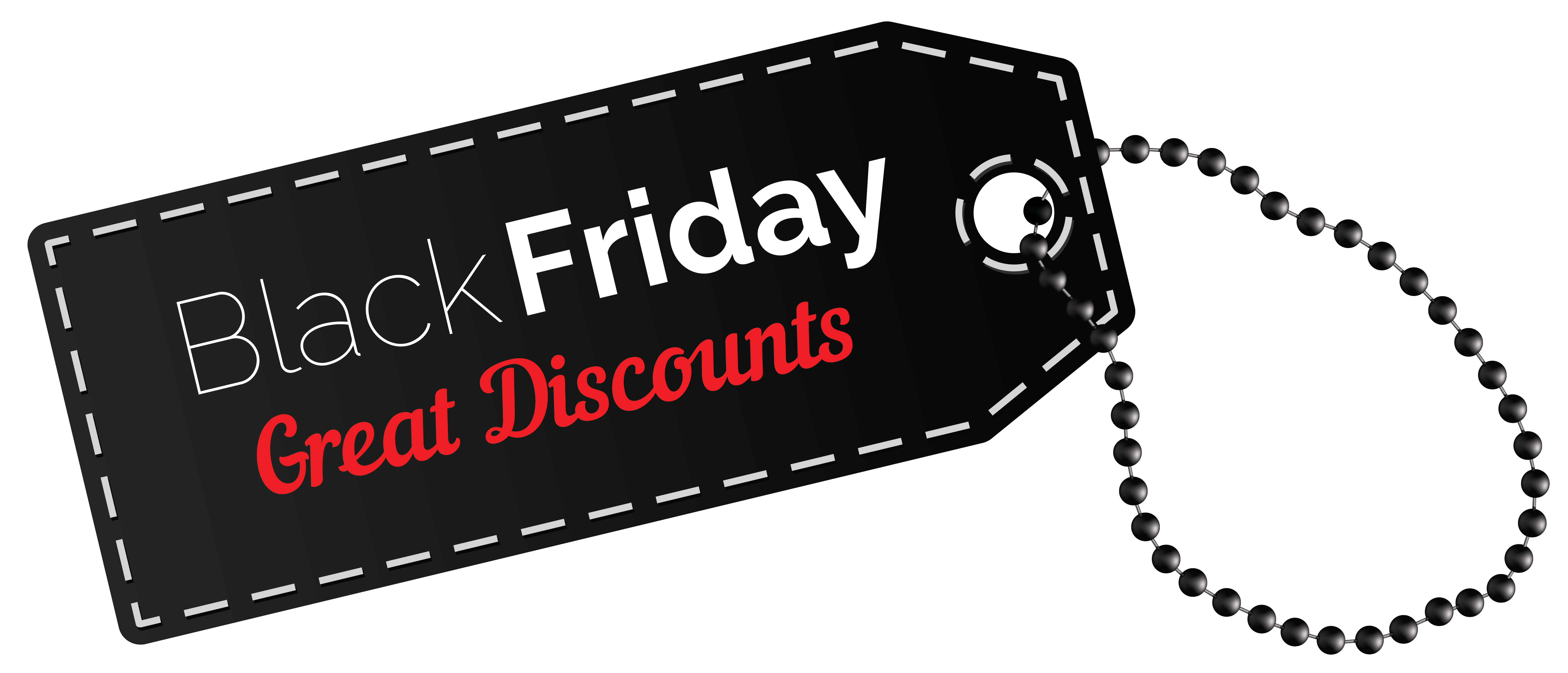 Black Friday Discount Tag PNG Clipart Image.