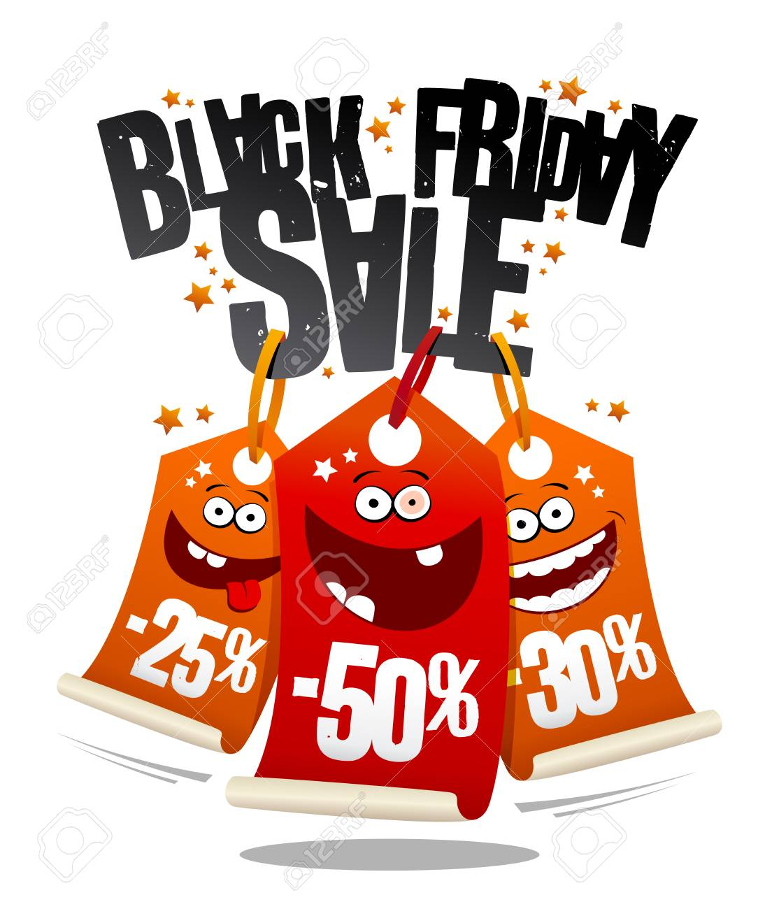 Black friday sale, funny vector banner concept with crazy price...