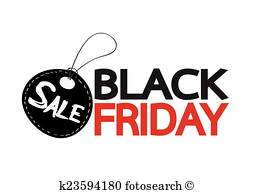 Black Friday Sale Clipart.