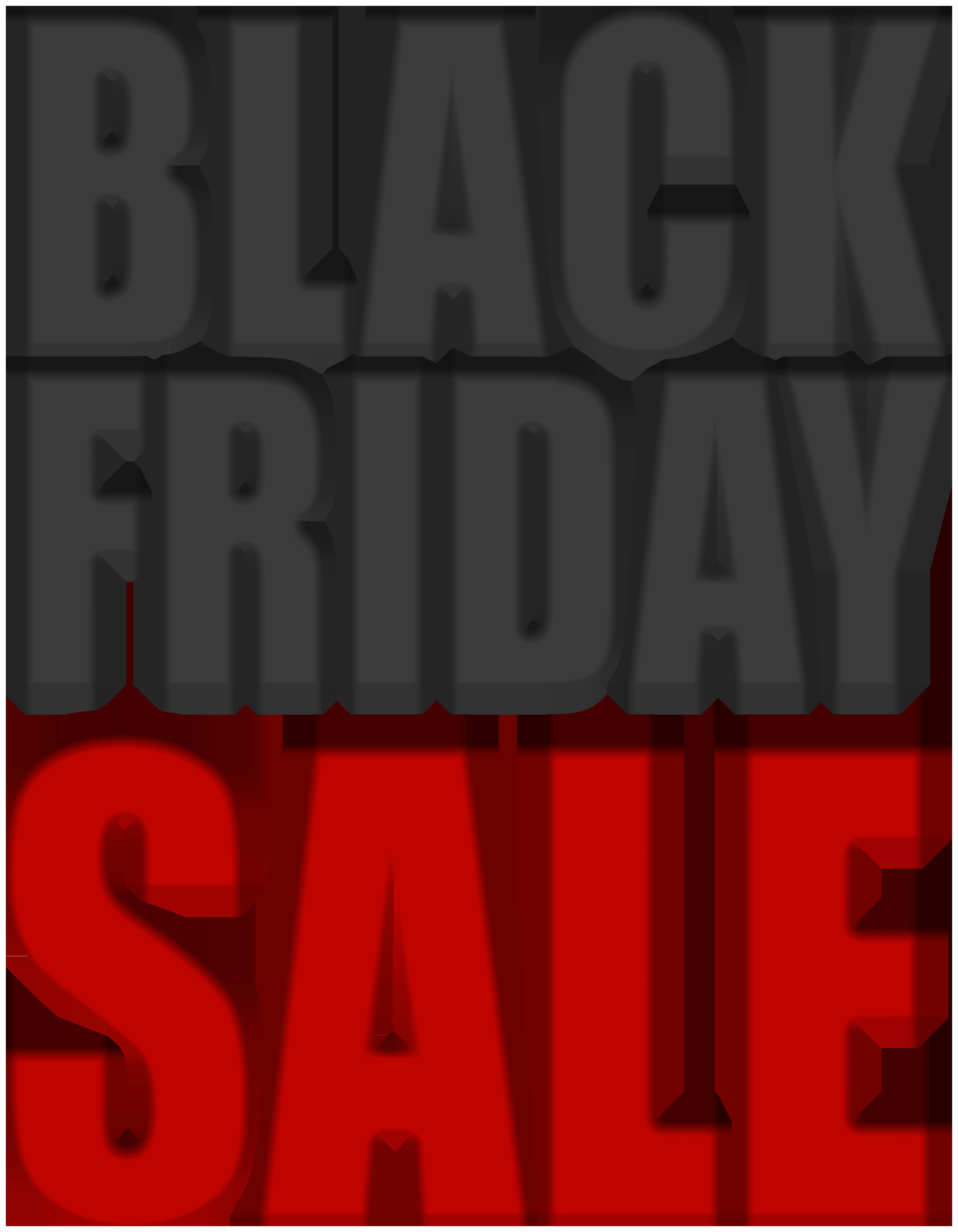 Black Friday Sale PNG Clip Art Image.