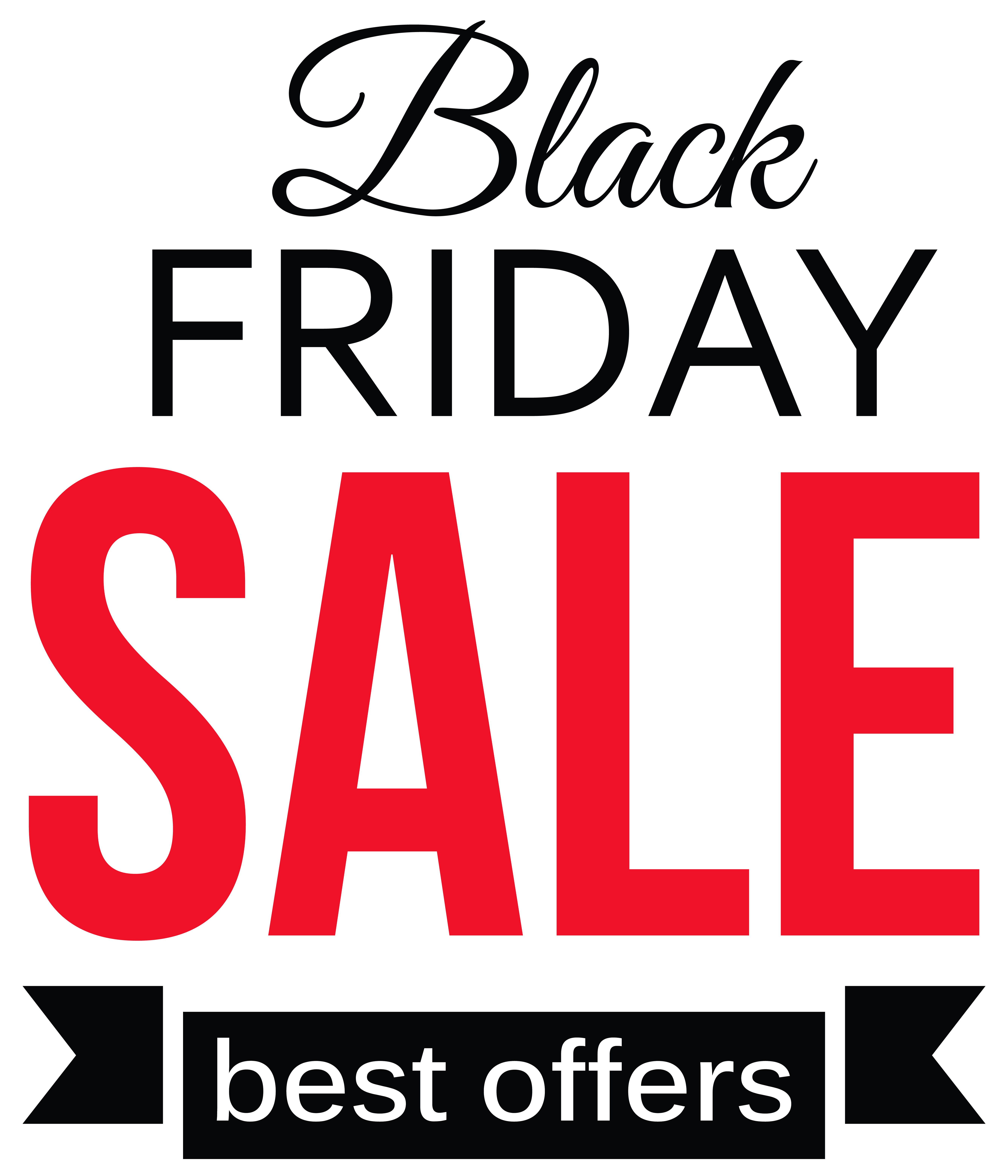 Black Friday Sale Clipart PNG Picture.