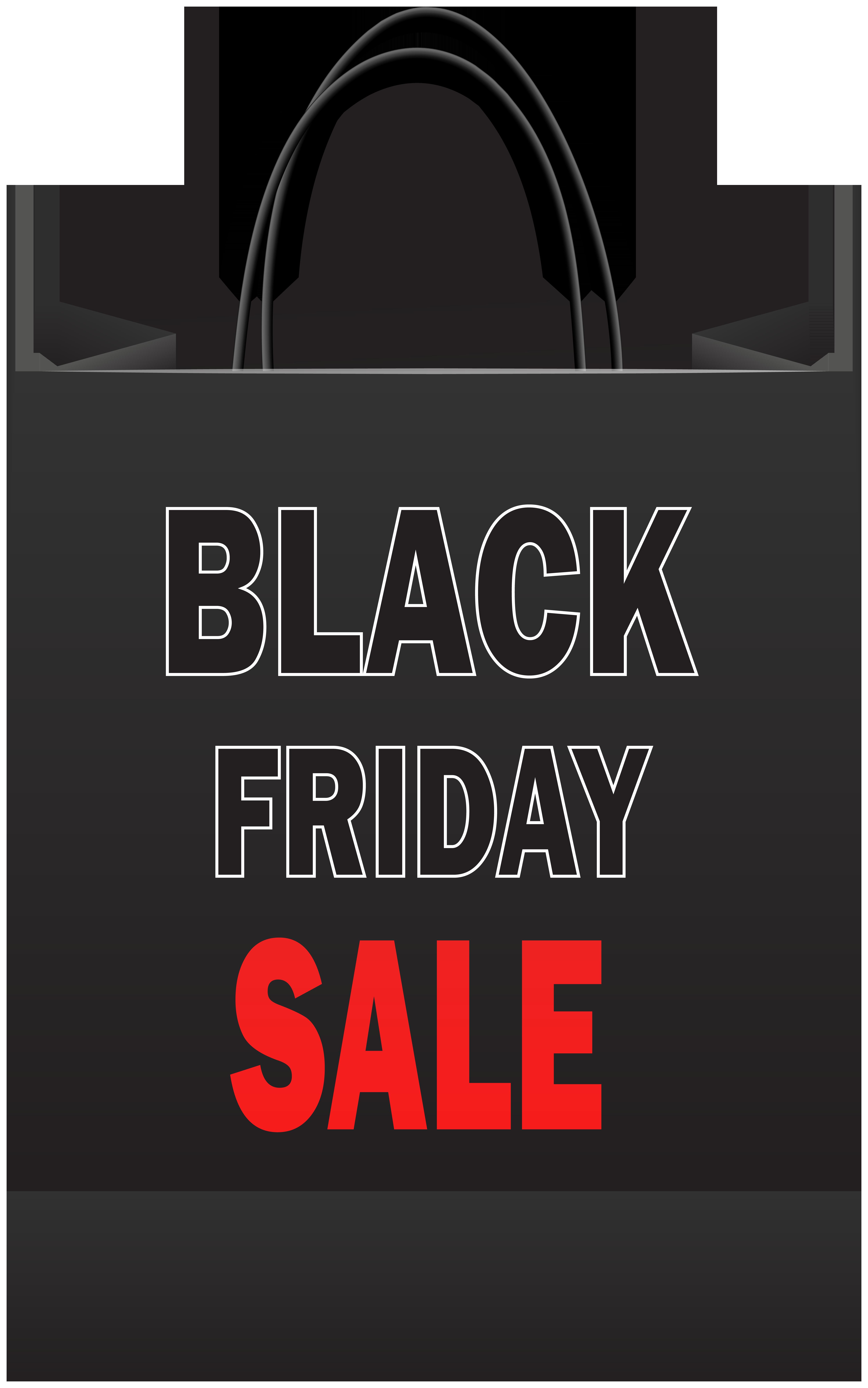 Black Friday Sale Shopping Bag PNG Clip Art.