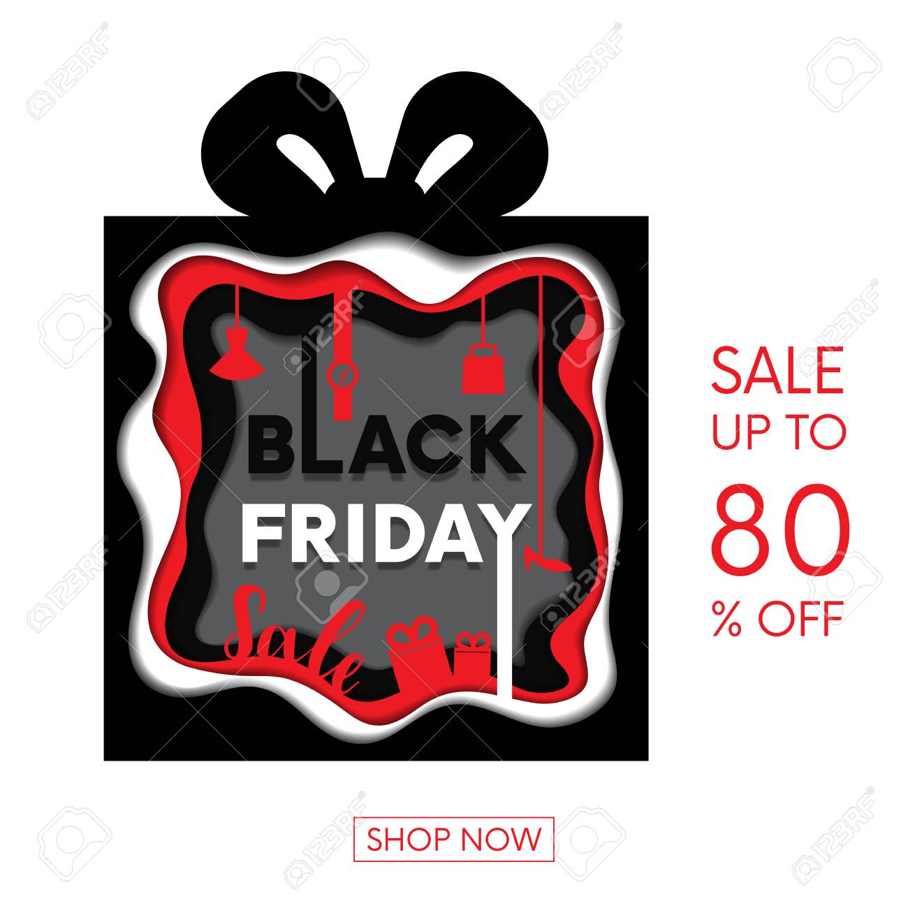 Black Friday shopping sale in abstract multi layers including...