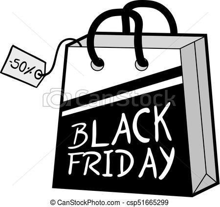 black friday shopping bag.