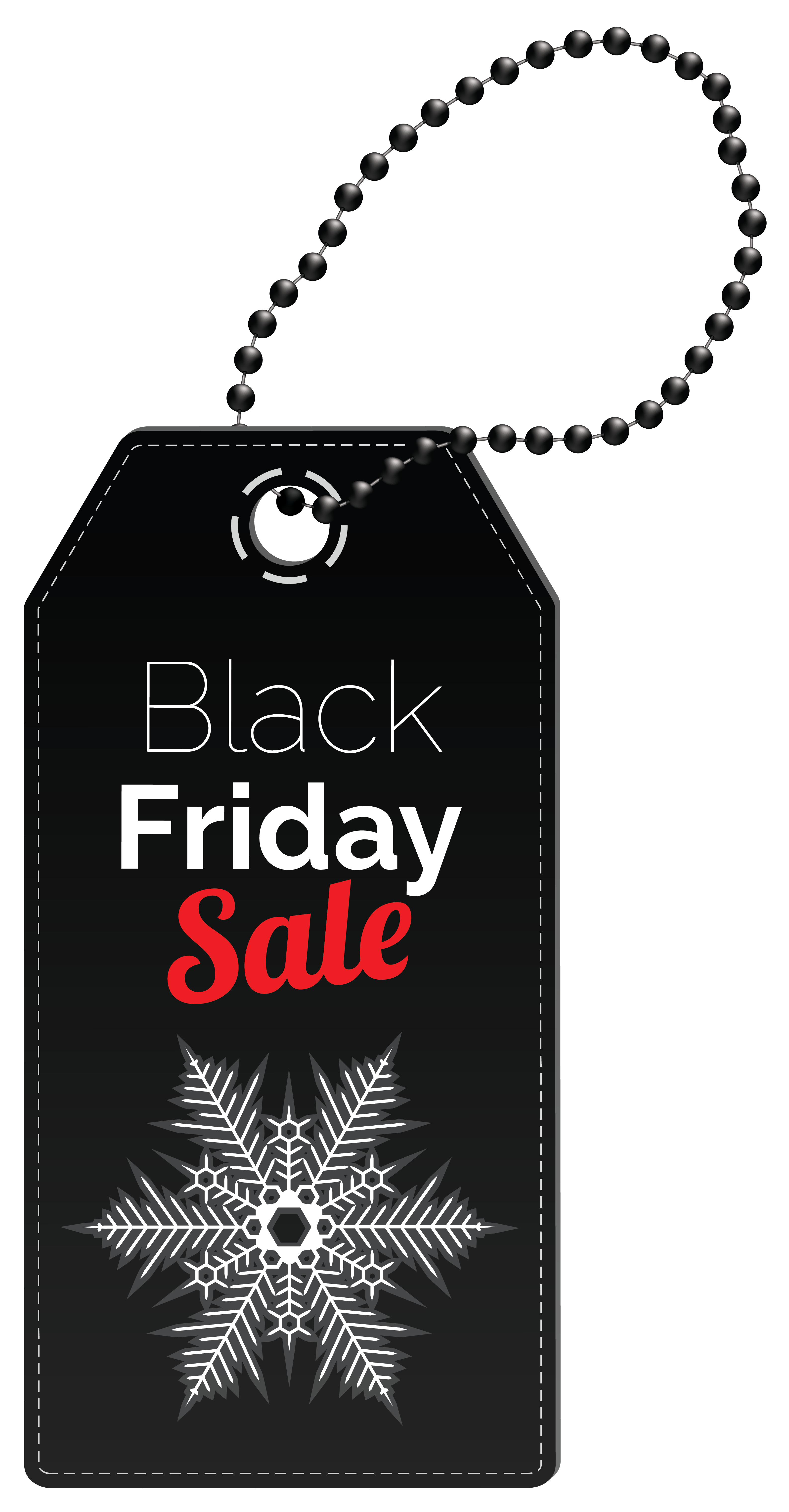 Black Friday Sale Tag PNG Clipart Image.