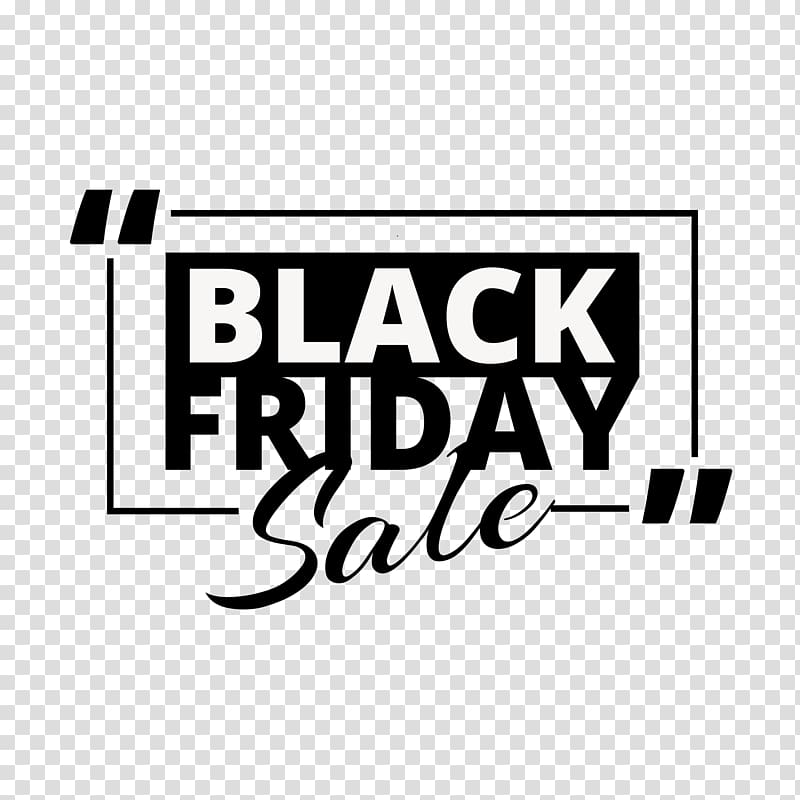Black Friday promotional English font label transparent.