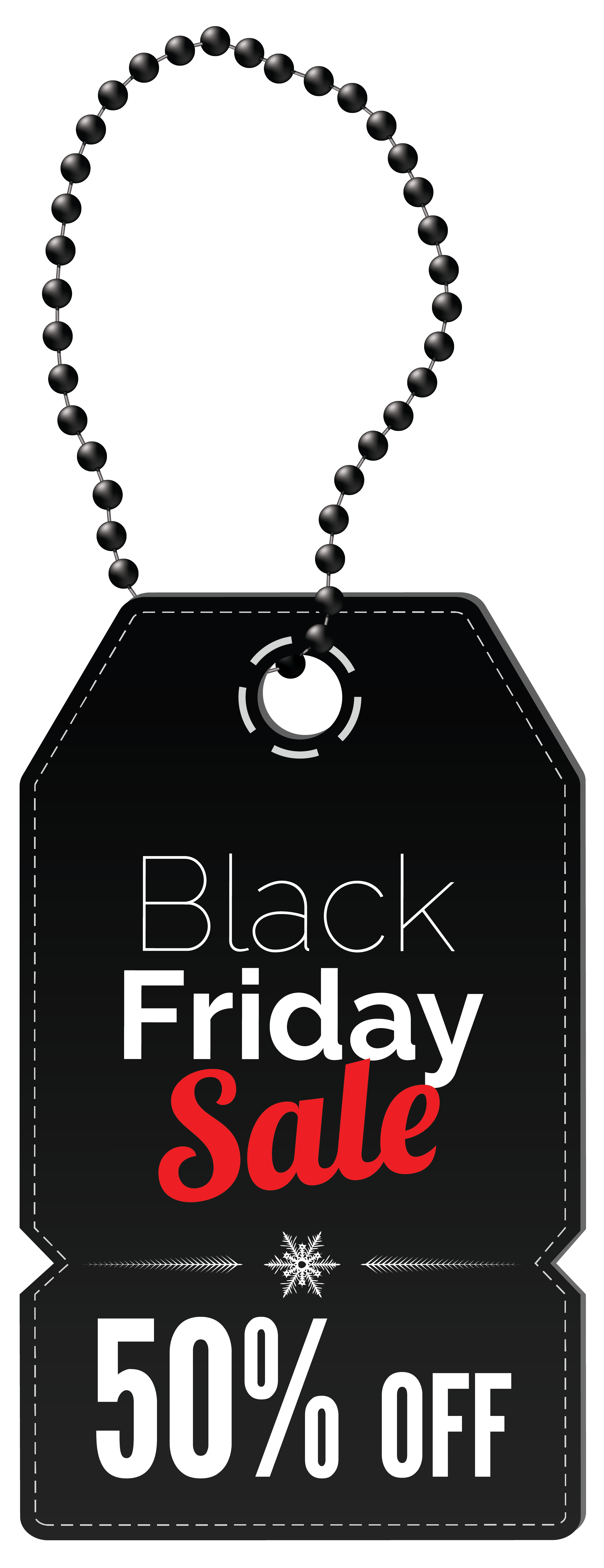 Black Friday 50% OFF Tag PNG Clipart Image.