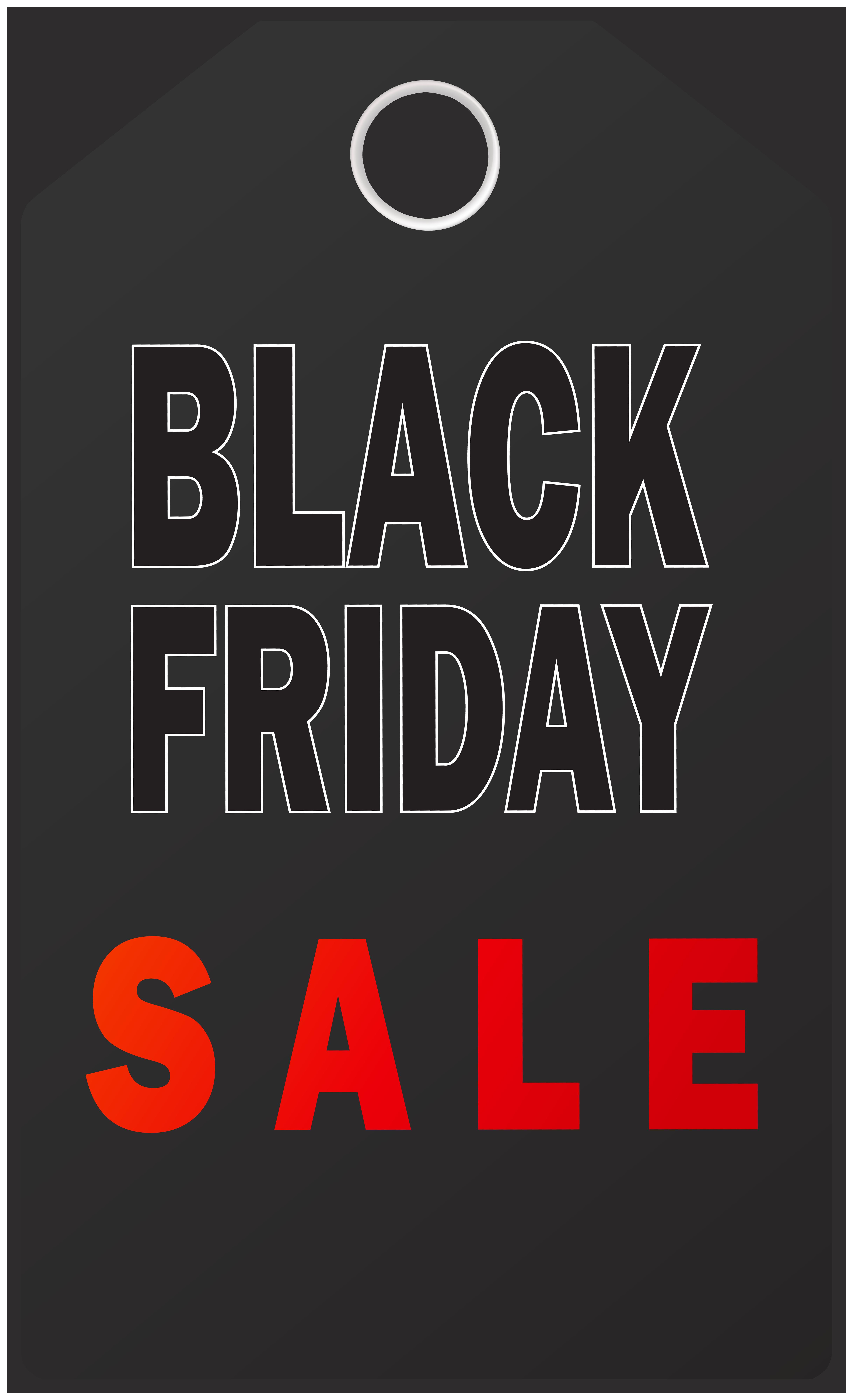 Black Friday Sale Tag PNG Clip Art Image.