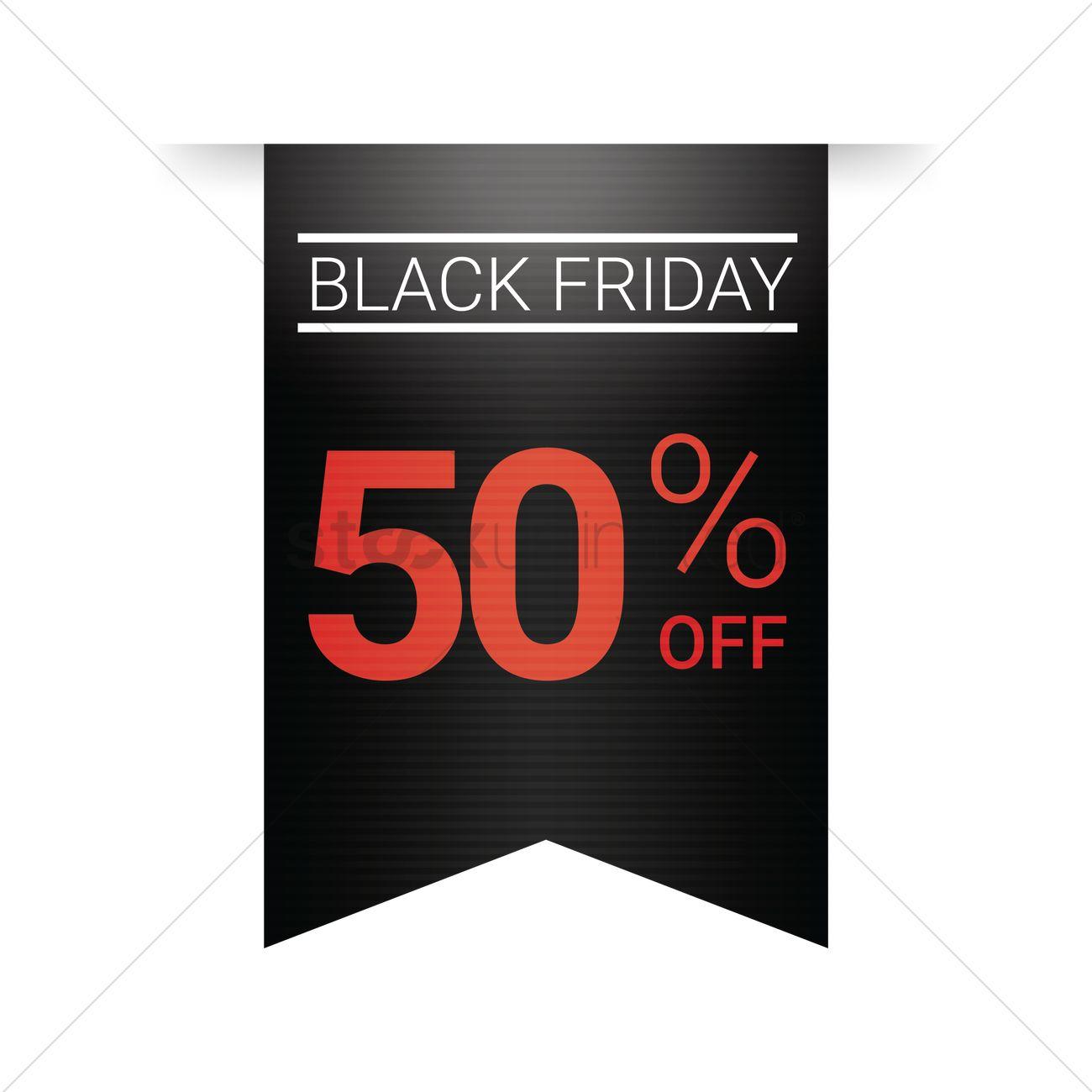 Black friday sale tag Vector Image.