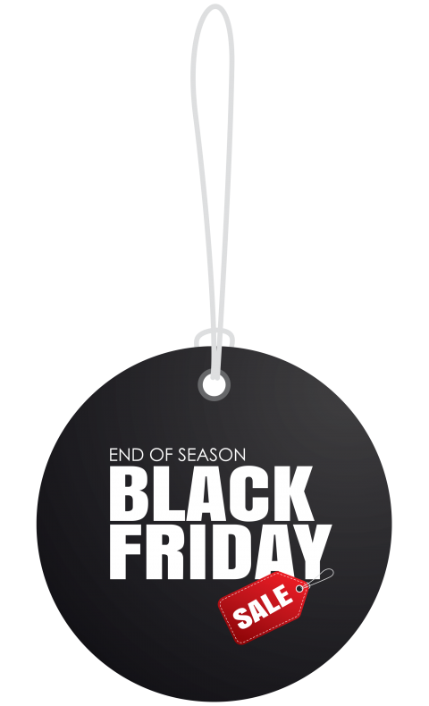 Black Friday Sale Tag PNG.