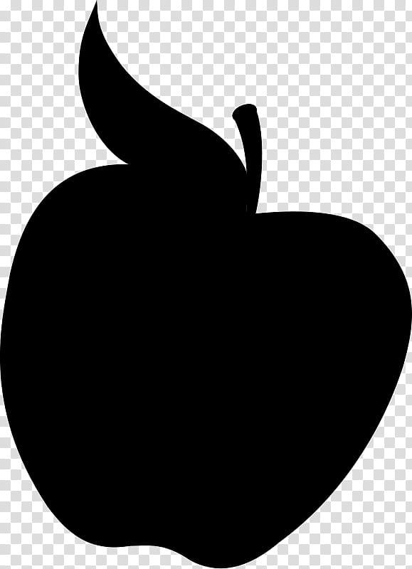 Black Apple Logo, Silhouette, Blackandwhite, Leaf, Plant.