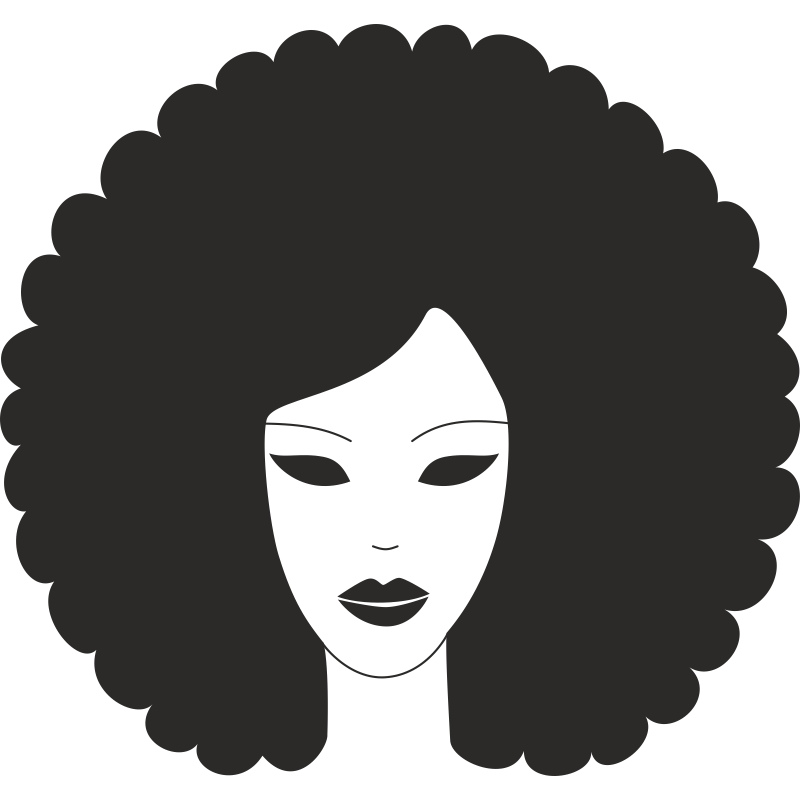 Afro Hairstyle Clip art.